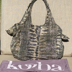 Kooba Embossed Leather Snakeskin Hobo